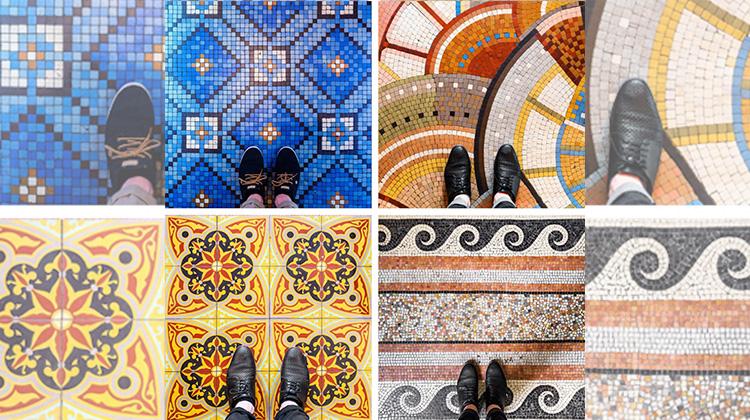 低頭才能見到的美好,讓人心情愉悅的地板磁磚藝術