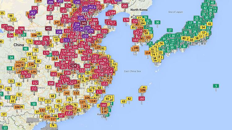 別再說是中國飄來的!西半部12個空污觀測站「紫爆」是因為...