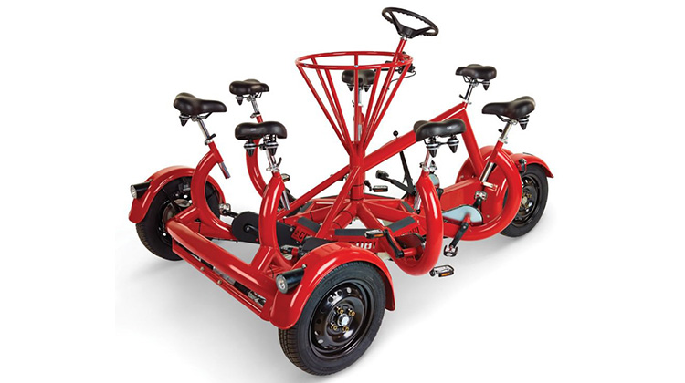 社交神器:可以七個人一起騎的協力車