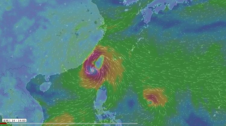 強颱莫蘭蒂威力稍減,馬勒卡颱風緊跟在後恐轉中颱