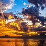 彩霞滿天的黃昏