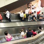捷運的電扶梯