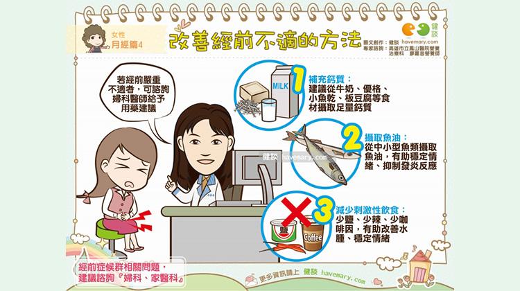 改善經前不適的方法|女性 月經篇4