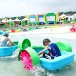 暑假水樂園免費玩!滑水道、水上步行球、碰碰船high翻天