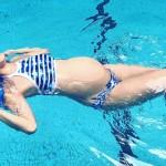 林可彤挺38周肚優雅拍泳照,懷孕游泳的好處與限制