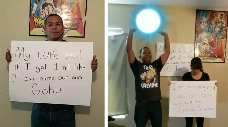 中二爸臉書集百萬讚 兒子就取名「悟空」