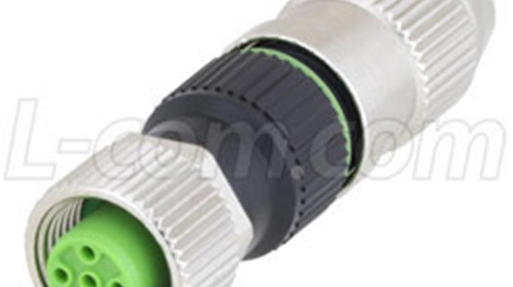 L-com推出M12和M8現場端接連接器、耦合器、轉接頭及插座