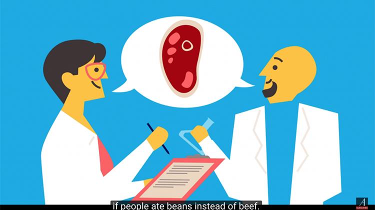 如果人類不吃牛肉改吃豆類,會發生什麼事?