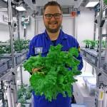 德國科學家在南極收穫的蔬菜沙拉