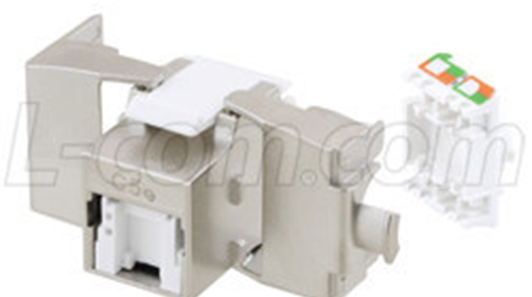 L-com推出符合PoE+標準的免工具RJ45插座新產品