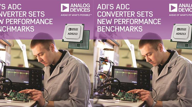 ADI 12位元10.25-GSPS射頻ADC為儀器及通訊應用樹立新性能標準