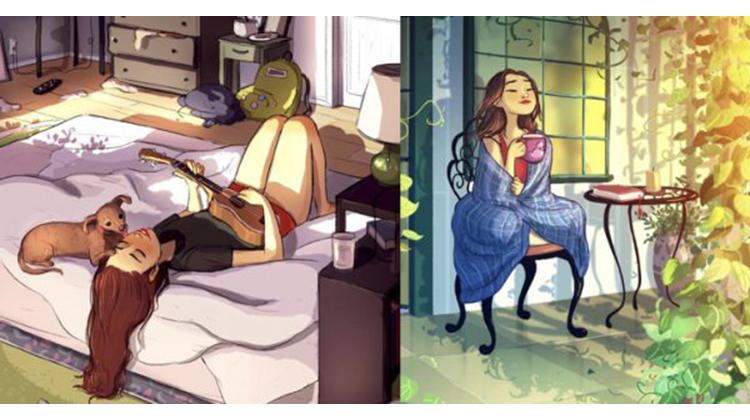 感情空窗期不要枯等對的人,她用插畫告訴你:一個人也可以過得超精彩