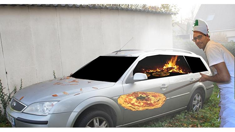汽車改裝的披薩窯