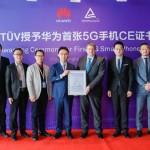 TUV 萊茵向華為頒發首張5G手機CE證書