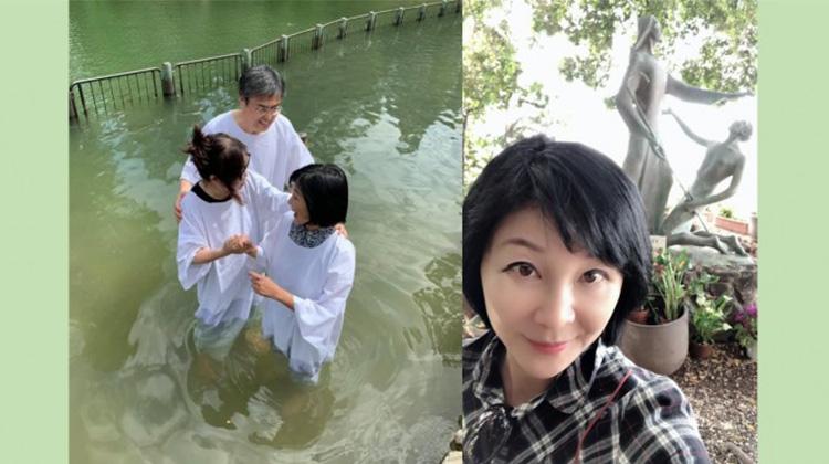 臉書PO文在約旦河邊受洗 吳淡如:這是我長久以來的心願