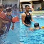 黑人教飛翔游泳用「祖傳方法」!想讓孩子學游泳必知這些