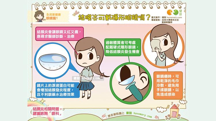 結膜炎可戴隱形眼鏡嗎?|全民愛健康 眼睛篇1