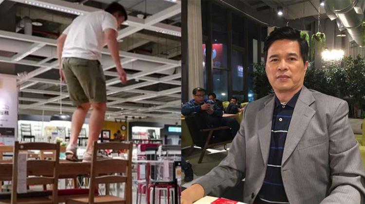兒子夜闖IKEA行為脫序,李興文道歉:兒不受教恣意妄為,就交給法律去敎育他!