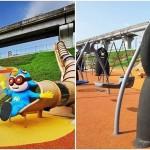 台灣黑熊鞦韆、獮猴溜滑梯玩好high,全台最大「堤坡滑梯樂園」開幕!
