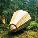 不插電收音法,巨型木造聚聲號角讓你沉浸在森林的囈語當中