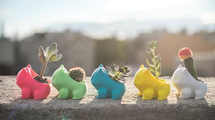 妙蛙種子是你!3D 列印出自己的神奇寶貝盆栽
