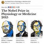 2015年諾貝爾醫學獎 由3位學者榮獲