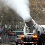 霧霾太嚴重人工水大砲出動