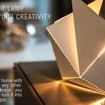 開啟想像力,親手摺一盞自己的燈 Folding Lamp