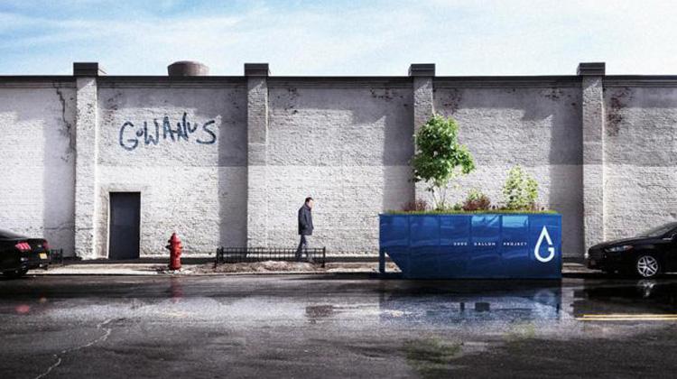 只收雨水不收垃圾的「生態垃圾桶」,淨化全美最髒運河