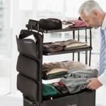 可以變形成為層架的行李箱