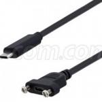 L-com推出面板安裝式USB 2.0 Type-C線纜