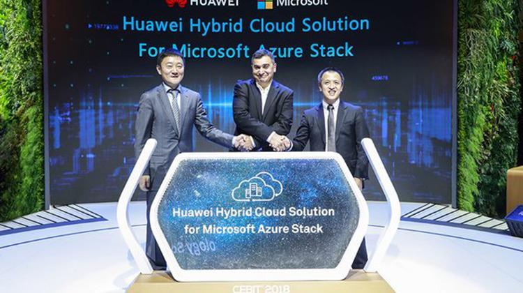 華為在CEBIT 2018發布基於微軟Azure Stack的混合雲解決方案