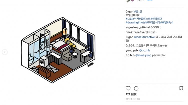 只有 10 坪大也超有格調!插畫版空間設計圖給一個人租屋的你
