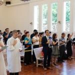 日月潭耶穌堂復堂週年獻上感恩 橫跨老中青三代受洗歡慶新生