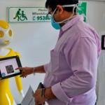 在印度,機器人加入打擊病毒的行列